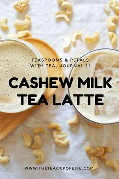 Creamy and rich! This delightful cashew milk tea latte recipe is one of many from Alexis Siemons' new cooking with tea journal, with tea.