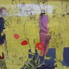 "Saatchi Art Artist Golnaz Afraz; Painting, ""Une scène-SOLD"" #art"