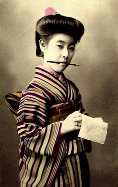 EIRYU -- QUEEN of the POSTCARD GEISHAS (7) -- Ready to Take Your Message by Okinawa Soba, via Flickr