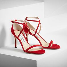 80823b1d71fb Paint the town red with the new  jimmychoo  PF16 HESPER sandal  flatlay