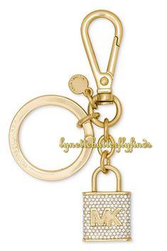 f8fd3baeeb05 Michael Kors Pave Lock and Key Charm Gold NIB  MichaelKors Key Chains