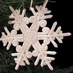 Polymer Clay Glitter Snowflake