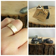 8mm Recyled 14k Gold Men's Wedding Band by PointNoPointStudio