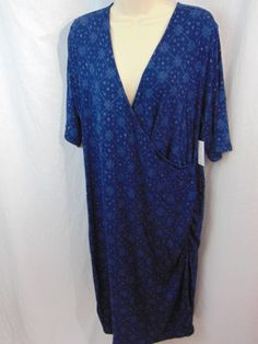16.68$  Buy now - http://vidaz.justgood.pw/vig/item.php?t=tlf5oe9144 - Old Navy New Maternity Dress Blue Print Bodycon Cross Front Blue Print XXL