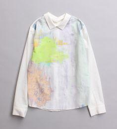 むこうの爆竹 インクジェットプリントシャツ