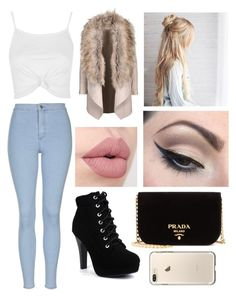 """Untitled #842"" by aneesakhan02 ❤ liked on Polyvore featuring Topshop, Mehron and Prada"