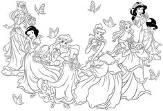disney princess coloring sheets printable free for girls