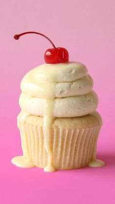 Recipe with video instructions: Uno ... dos ... tres leches make these cupcakes muy bueno! Ingredients: 429g all-purpose flour, 265g caster (superfine) sugar, 1/2 tsp salt, 3 tsp baking powder, 375ml of milk, 125ml vegetable oil, 125g unsalted butter, softened, 2 tbsp Greek yogurt (can substitute with sour cream), 1 tsp vanilla extract, 2 large eggs, Maraschino cherries to decorate, sweetened condensed milk to drizzle., Milk mixture:, 150ml evaporated milk, 125ml sweetened condensed milk...
