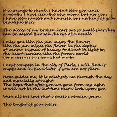 A KnightS Tale  WilliamS Love Letter To Jocelyn This Is The