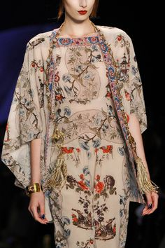 Chinoiserie Week: Anna Sui dress, Fall 2014 RTW. /  via Museum at FIT