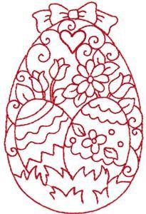 Embroidery.com: Redwork Easter Egg 2: Kinship Kreations