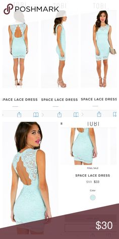 ⏰ Flash sale - Mint Green Space Lace Dress - Tobi Great Condition. Only worn once. Great for just about any occasion. One of my favorites. Size Medium but can fit a small pretty well. Stretchy. Sold out on the website!! Tobi Dresses