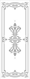 Rectangle Door Stencil Pattern - Art Deco san antonio etched glass, austin etched glass