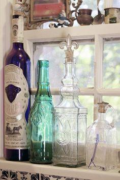 Antique bottles (for dish soap)