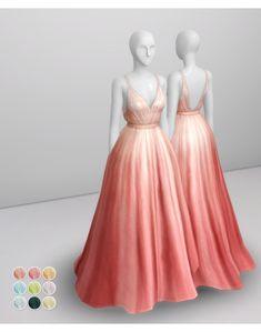 _Peach Silk Gown by Prada color) : 네이버 블로그 Sims 4 Teen, Sims Four, Sims 4 Mm Cc, Los Sims 4 Mods, Sims 4 Game Mods, Sims 4 Mods Clothes, Sims 4 Clothing, Maxis, Vêtement Harris Tweed