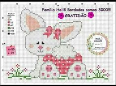 Knitting Patterns Free Easter Cross Stitch 44 New Ideas Cross Stitch Letters, Cute Cross Stitch, Beaded Cross Stitch, Knitting Charts, Knitting Patterns Free, Stitch Patterns, Crochet Baby Mobiles, Everything Cross Stitch, Butterfly Cross Stitch