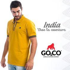 Colores que nos transportan a tierras lejanas y mágicas, así es #GoCoIndia, la nueva colección de #GoCo #LaMarcaDelGorila. Disponible en tiendas y en www.gococlothing.com. Despachamos a todo Colombia sin costo de envío.  #BeGoCo #Casualwear #Style #MenCollection #menstyleguide #polos #mensfashion #mensclothing #stylegram #fashiongram #algodón #cotton #hechoencolombia