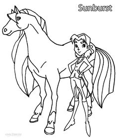 Horseland coloring picture | SPIRIT COLORING PAGES | Pinterest ...