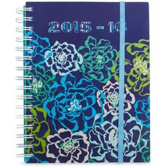 Vera Bradley 2016 Student Agenda Book in Katalina Blues ($13) ❤ liked on Polyvore featuring home, home decor, stationery, books, notebooks, school supplies and katalina blues