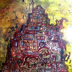 Torre de Babel, Oleo sobre tela