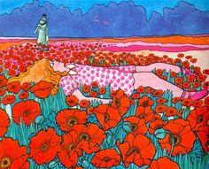 watersslut: Ivan Ripley's illustration for The Poppy Field,...