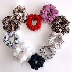WHOLESALE 10 Scrunchie Pack Velvet Solid Polka Dot | Etsy