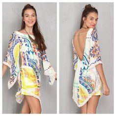Vestido lenço estampa solar  #veraoflutuar #dressto