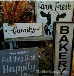 Lovely farmhouse signs