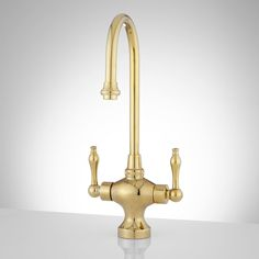 Isadora Single-Hole Bar and Kitchen Faucet - Polished Brass