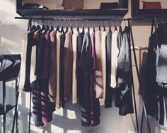 Fall palette in Samuji Shop. Wardrobe Rack, Palette, Spaces, Fall, Brown, Outfits, Clothes, Furniture, Shopping