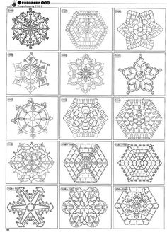 Crochet Hexagon popcorn Squares Patterns | crochet hexagon patterns 13 | crochet granny squares, hexagons...