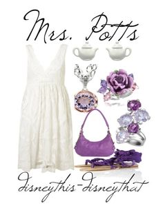 Mrs. Potts ALWAYS reminded me of my Memere...and now I know why. It's all the lilac and purple..this is my favorite outfit by default. <3 Memere.