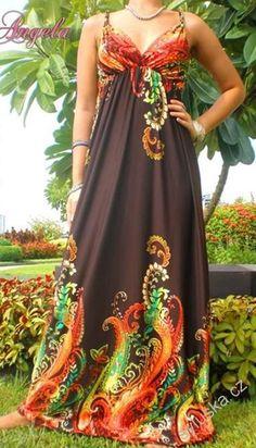 Šaty CLAUDIE - M až L - hnědé