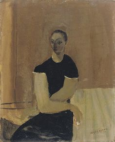 'Seated Woman' (c.1931-33) by English artist Roger Hilton (1911-1975). Oil on board, 16 x 13 in. source: Christie's. via franswazz.