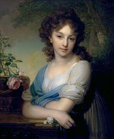 Portrait of Elena Alexandrovna Naryshkina (1785-1855), 1790, Borovikovsky ~Via Martina Friedrich