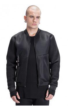 Filip Roth microfiber leather jacket - unconventional