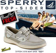 Just in time for boating season... or just sailing through your day! A great new color way in the classic Ivyfish boat shoe from Top-Sider. Available now at Vincent's