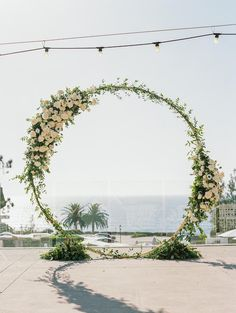An Elegant Seaside Wedding With A Family Heirloom You'll Just Have to Read About! Boho Beach Wedding, Wedding Fun, Ivory Wedding, Floral Wedding, Wedding Ceremony, Wedding Flowers, Wedding Backdrops, Outdoor Wedding Decorations, Ceremony Decorations