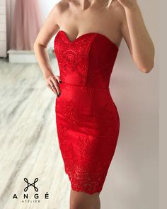 Rochie Model 2 in 1 Rosie Scurta Mulata Dantela Corset AngeAtelier.ro Formal Dresses, Red, Fashion, Moda, Formal Gowns, Fasion, Trendy Fashion, Rouge, Formal Evening Gowns