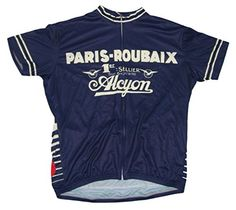 Paris Roubaix Alcyon Cycling Jersey Mens by Retro Image Apparel Mens Small Short Sleeve >>> You can get additional details at the image link.