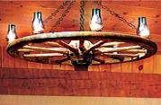 How to Build a Wagon Wheel Light. Wagon wheels are a picture of a past. Recycling old wagon wheels is popular, and one of the most common ways to reuse them is to make a chandelier-style wagon wheel light. Pre-made wagon wheel chandeliers can be expensive, but you can make one at a fraction of the cost.