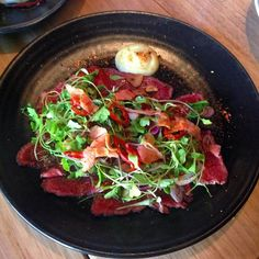Let it be Tataki!! 'Seared Wagyu tataki ponzu dressing wasabi mayo & herb salad.' #ricequeen #ricequeenrestaurant #tataki #japanese #japan #foodie #melbourne #foodporn #drool #asian #asianfood by ricequeenrestaurant