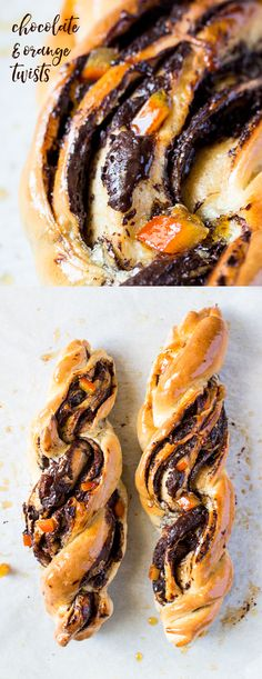 These chocolate and orange twists may look impressive but they are so easy to make! {vegan}