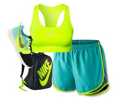 """""""Nike Work Out!"""" by angelsantanawilson ❤ liked on Polyvore featuring NIKE"""