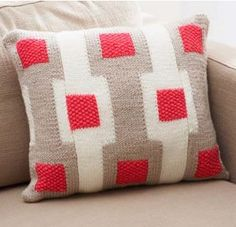 Free Pattern: Graphic Gridwork Afghan and Pillow · Knitting | CraftGossip.com