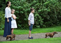 royal watcher: Royal Family Annual Summer Photoshoot, Gråsten Castle, July 25, 2015-Crown Princess Mary with Princess Isabella and Prince Christian
