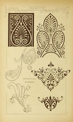 Materials and documents of architecture and sculpture : classified alphabetically Tangle Patterns, Embroidery Patterns, Leather Carving, Painting Lessons, Printable Designs, Sculpture, Repeating Patterns, Graphic Illustration, Design Elements