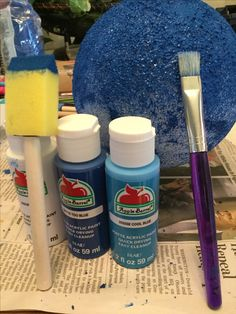 Neptune/how to get a good Neptune colors (cool blue,too blue,white)Mix the paint!Great for a kids project