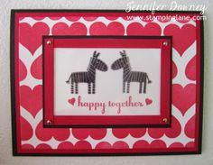 Jennifer Downey & Stampin' Up! www.stampinglane.com  Zoo Babies, Perfect Pennants, Love, Card