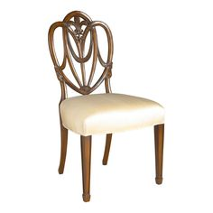 Heart Shaped Shield Back Dining Side Chair by Maitland-Smith. #furniture